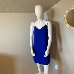 ASOS blue slip dress size 2